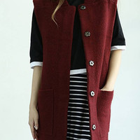 Red Buttons Gilet