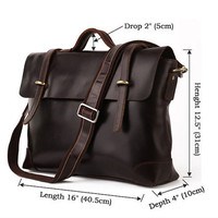 Deep Coffee Leather Tote Bag-Shopper-computer-Ipad­-MacBook Bag-Shoulder-Handbag- Leather Satchel /Briefcase/Leather bag purse/handbags Bags