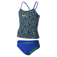 Nike Pixel Party V-Back Tankini Girls' Two-Piece Swimsuit