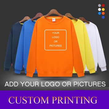 Multicolor Profession Custom Sweater Printed Logo DIY Customized Clothes Cotton Long-sleeved Skateboarding Hoodies Freeshipping