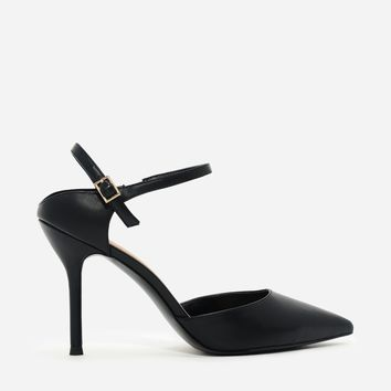 Black Pointed Toe Heels|CHARLES & KEITH