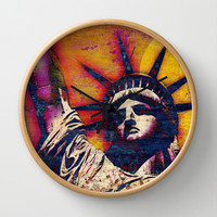 STATUE OF LIBERTY Wall Clock by The Griffin Passant
