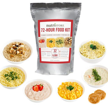 72 Hour Emergency Meal Kit | 2300 calories Per Day | 32 Total Servings | Made...