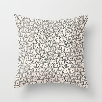A Lot of Cats Throw Pillow by Kitten Rain