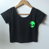 Short Sleeve Sexy Crop Top Tops T-shirts [10510759692]