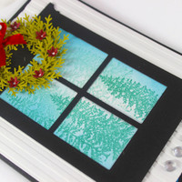Winter Window Scene Card - Christmas Card