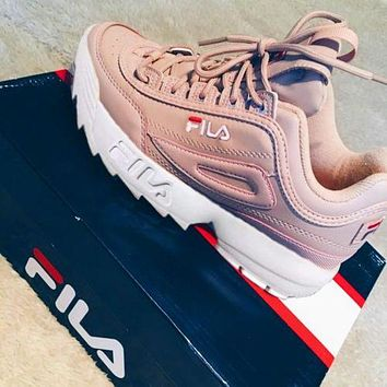 FILA Running Sport Casual Shoes Sneakers Pink F