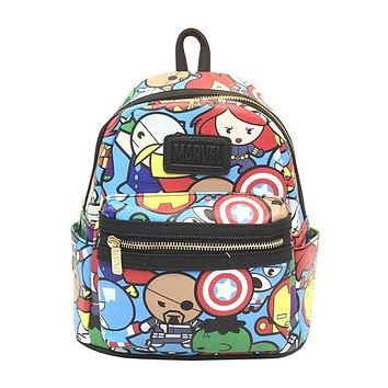 Anime Backpack School Unisex Leather Backpack for Teenager Boys Girls kawaii cute Marvel Avengers Students Schoolbag Super Hero Cartoon Bags Gifts mochila AT_60_4