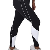 Brazilian Activewear-Sexy Workout Clothes: Bia Brazil Legging LE2853 Black White Mesh
