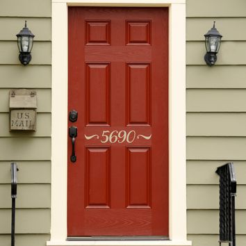 Address Decal - Front Door Numbers - Outdoor Script Decal - 2