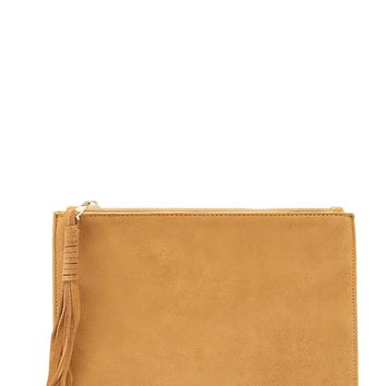 Genuine Suede Clutch