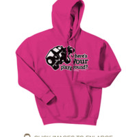 All Things Jeep - Where's Your Playground? Jeep TJ & YJ Sweatshirt (Multiple Colors)