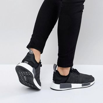 adidas Originals NMD R1 Sneakers In Black at asos.com