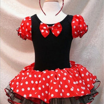 Xmas Minnie Mouse Kids Girl Birthday Pary Costume Ballet Tutu Dress 2 8Y