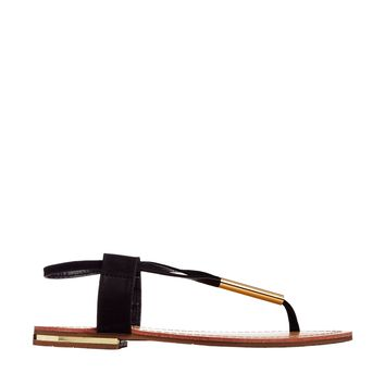 London Rebel Toepost Flat Sandal
