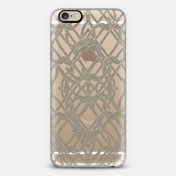 Celtic Art Silver iPhone 6 case by Alice Gosling | Casetify