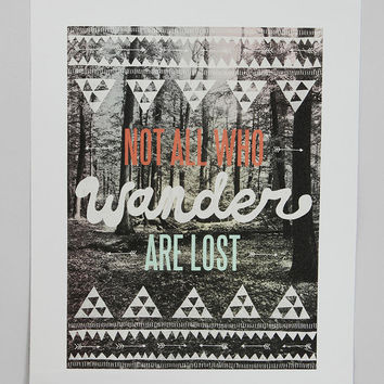 Urban Outfitters - Wesley Bird for Society6 Not All Who Wander Are Lost Print