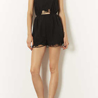 Black Lace Cut Work Playsuit - New In This Week  - New In