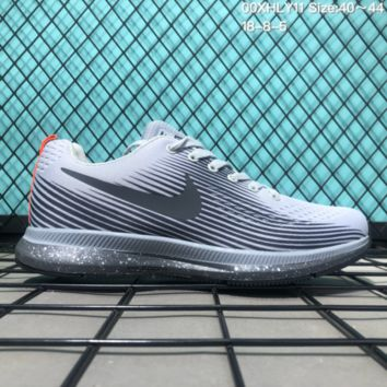 KUYOU N208 Nike Zoom 34 Fashion Causal Running Shoes White Grey