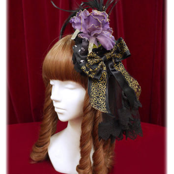 星影のカルナヴァル柄ヘッドドレスカチューシャ/Starlight Carnevale head dress style head bow | BABY,THE STARS SHINE BRIGHT