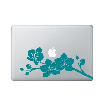Orchid Laptop Decal - Flower Macbook Decal - Orchid Flower