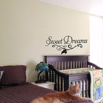 KIDS WALL ART STICKER BABY ROOM NURSERY BOY GIRL BEDROOM SWEET DREAMS 28