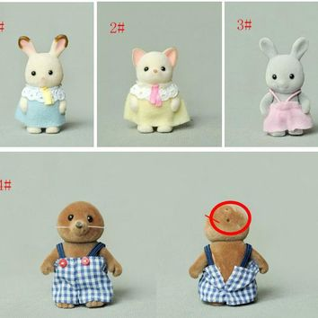 Limit stock ! Japan original bulks sylvanian families cute Hedgehog rabbit cub dolls toys for girls collectible Christmas Gift