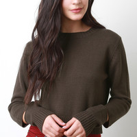 Wrist Cutout Knit Sweater