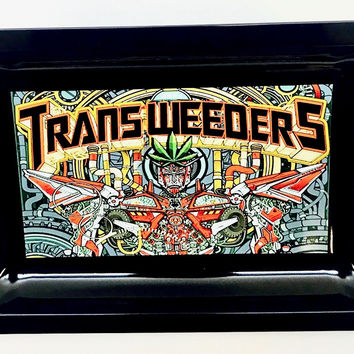 Colorful Metal Rolling Tray - Transformers