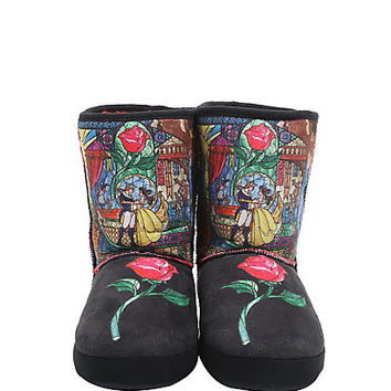 Disney Beauty And The Beast Stained Glass Slipper Boots