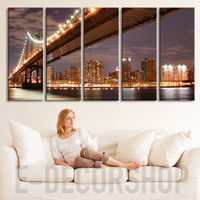 Large Wall Art Manhattan (New York) Landscape Large Canvas Art Print for Home Decoration, Great Print, Landscape Canvas Prints