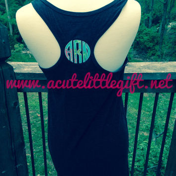 Monogrammed Swim Cover Up using Lilly Pulitzer Fabric