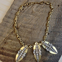 Peapod Statement Necklace