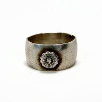 Womens College of North Carolina Class Ring, Sterling Silver, Vintage Ring, UNCG, Estate Jewelry, Womens Ring, Size 6, 1932 to 1963, Ring