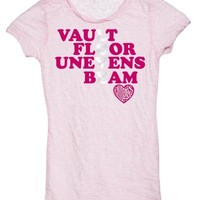 Baby Pink Love Gymnastics Burnout Tee
