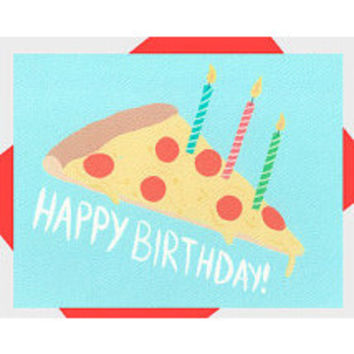 Happy Birthday Pizza Card