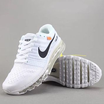 Trendsetter Off White X Nike Air Max 2017  Women Men Fashion Casual Sneakers Sport Shoes