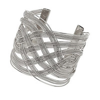 Silver Twisted Cuff - New In This Week  - New In
