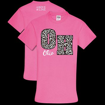 Couture Above The Line Soft Collection Leopard Ohio T-Shirt