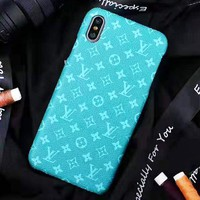 LV Louis Vuitton New fashion monogram print couple protective cover phone case