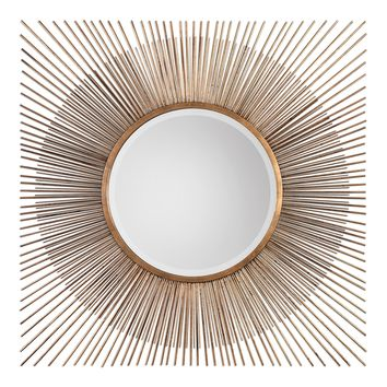 Azie Square Starburst Mirror by Uttermost