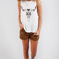 Show Me Your Mumu: mikey muscle tank - bull skull