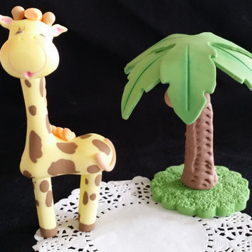 Giraffes Baby Shower Giraffe Baby Shower Cake Topper Baby Shower Giraffe First Birthday Baby Shower Jungle Decoration Lion Giraffe Elephant