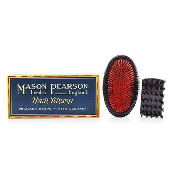 Boar Bristle - Sensitive Military Pure Bristle Medium Size Hair Brush (Dark Ruby) - 1pc