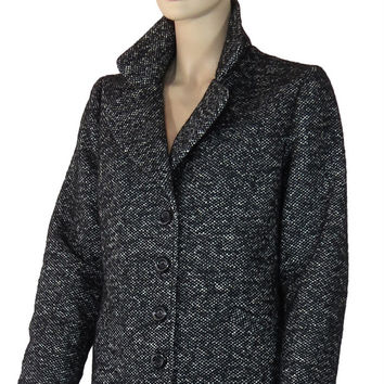 Cashmere Mohair Alapaca Blend Short Winter Coat
