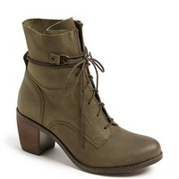 Steve Madden 'Rambow' Leather Lace-Up Bootie