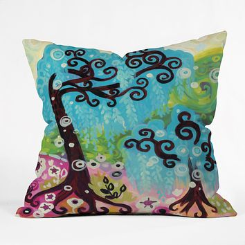 Natasha Wescoat Coastal Glimmer Throw Pillow