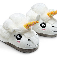 Plush Unicorn Slippers   Free Delivery