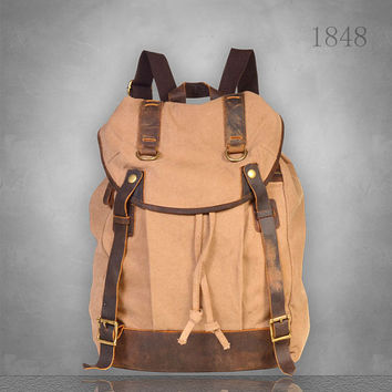 New Mens womens Canvas Backpack Rucksack Bag Large size laptop travel casual School cloth camping eco-friendly tablet Listin