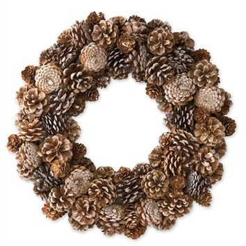 Natural Pine Cone Wreath